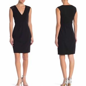 JS Boutique | Women's Mesh Crepe Sheath Dress New